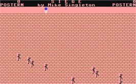 In game image of Siege on the Commodore 64.