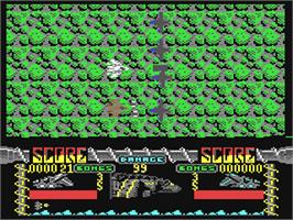 In game image of Silent Shadow on the Commodore 64.