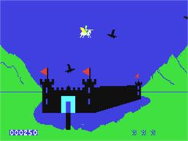 In game image of Sir Lancelot on the Commodore 64.