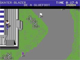 In game image of Skate or Die on the Commodore 64.