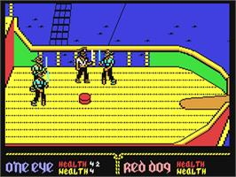 In game image of Skull & Crossbones on the Commodore 64.