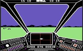 In game image of Skyfox on the Commodore 64.