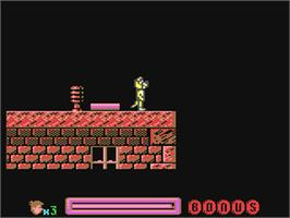 In game image of Sleepwalker on the Commodore 64.