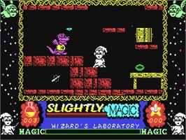 In game image of Slightly Magic on the Commodore 64.
