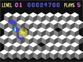 In game image of Slinky on the Commodore 64.