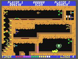 In game image of Soldier of Fortune on the Commodore 64.