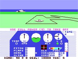In game image of Solo Flight on the Commodore 64.