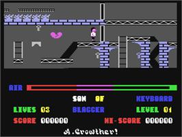 In game image of Son of Blagger on the Commodore 64.
