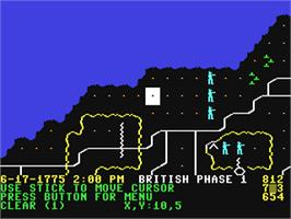 In game image of Sons of Liberty on the Commodore 64.