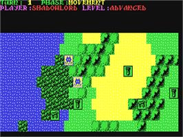 In game image of Sorcerer Lord on the Commodore 64.
