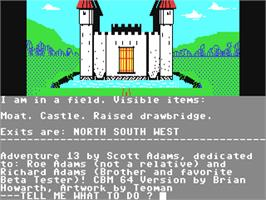 In game image of Sorcerer of Claymorgue Castle on the Commodore 64.