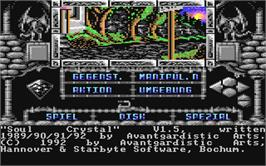 In game image of Soul Crystal on the Commodore 64.