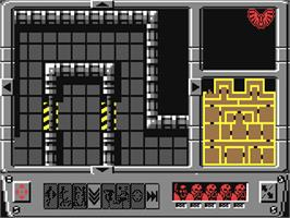 In game image of Space Crusade on the Commodore 64.