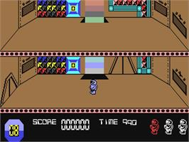In game image of Space Doubt on the Commodore 64.