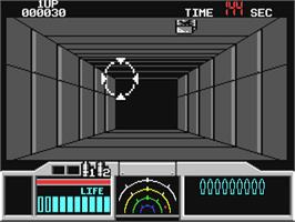 In game image of Space Gun on the Commodore 64.