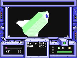 In game image of Space Rogue on the Commodore 64.