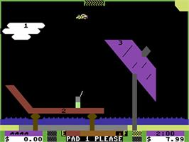 In game image of Space Taxi on the Commodore 64.