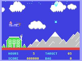 In game image of Special Delivery: Santa's Christmas Chaos on the Commodore 64.