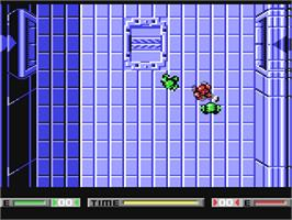 In game image of Speedball on the Commodore 64.