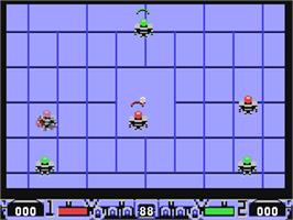 In game image of Speedball 2: Brutal Deluxe on the Commodore 64.