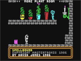 In game image of Spellbound on the Commodore 64.