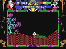 In game image of Spellbound Dizzy on the Commodore 64.