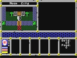 In game image of Spirit of Adventure on the Commodore 64.