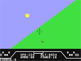 In game image of Spitfire Ace on the Commodore 64.
