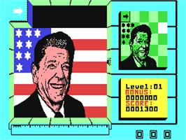 In game image of Split Personalities on the Commodore 64.