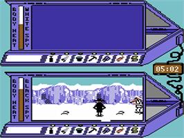 In game image of Spy vs Spy III: Arctic Antics on the Commodore 64.