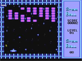In game image of Star Ball on the Commodore 64.