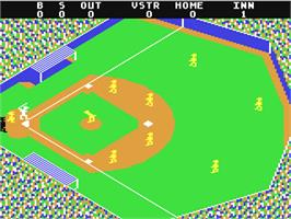 In game image of Star League Baseball on the Commodore 64.