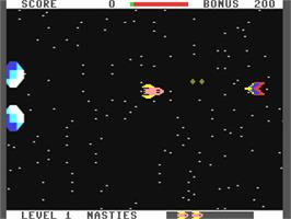 In game image of Star Ranger on the Commodore 64.