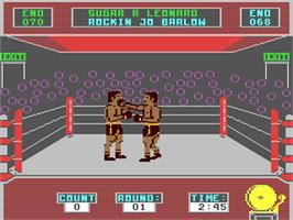 In game image of Star Rank Boxing on the Commodore 64.