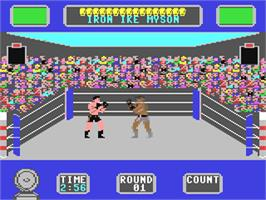 In game image of Star Rank Boxing 2 on the Commodore 64.