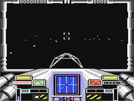 In game image of Starglider on the Commodore 64.