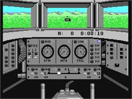 In game image of Steel Thunder on the Commodore 64.