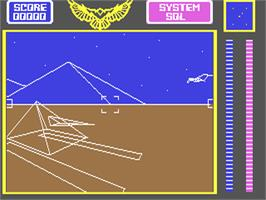 In game image of Stellar 7 on the Commodore 64.
