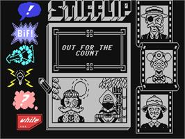 In game image of Stifflip & Co. on the Commodore 64.