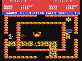 In game image of Storm on the Commodore 64.