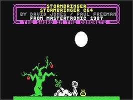 In game image of Stormbringer on the Commodore 64.