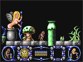In game image of Stormlord on the Commodore 64.