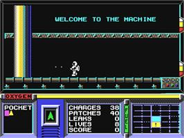 In game image of Strange Loop on the Commodore 64.