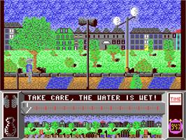 In game image of Street Cat on the Commodore 64.