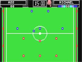 In game image of Subbuteo on the Commodore 64.