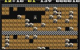 In game image of Super Boulder Dash on the Commodore 64.