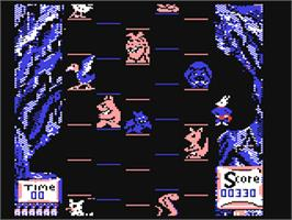 In game image of Super Bunny on the Commodore 64.