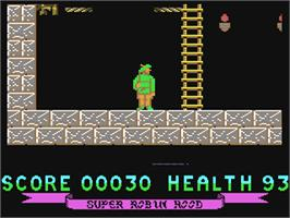 In game image of Super Robin Hood on the Commodore 64.