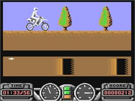 In game image of Super Scramble Simulator on the Commodore 64.