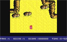 In game image of Super Stuntman on the Commodore 64.